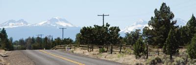 A view from the road in Bend, Oregon
