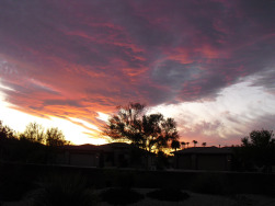 Another Arizona sunset in our backyard
