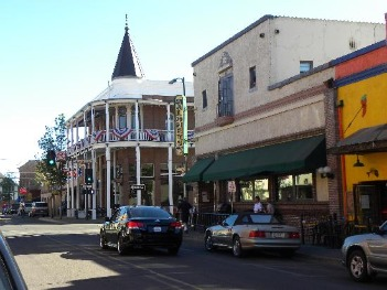 a view of downtown Flagstaff