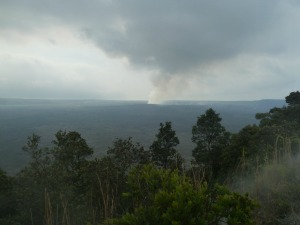 the vast volcanic crater in Kilauea national Park