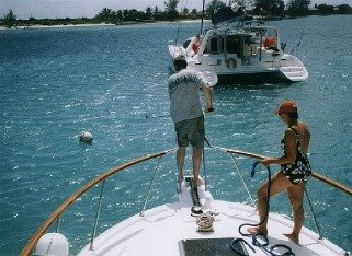 picking up a mooring ball