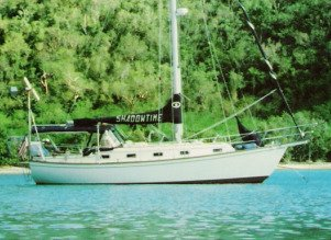 description of a crusiing sailboat
