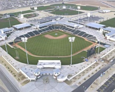 Surprise Stadium home of the Texas Rangers and Kansas City Royals